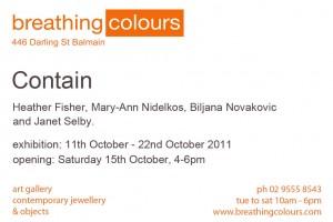 Contain Exhibition Invitation (Back)