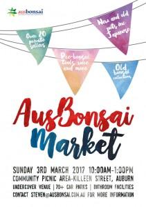 2017 AusBonsai Market Poster